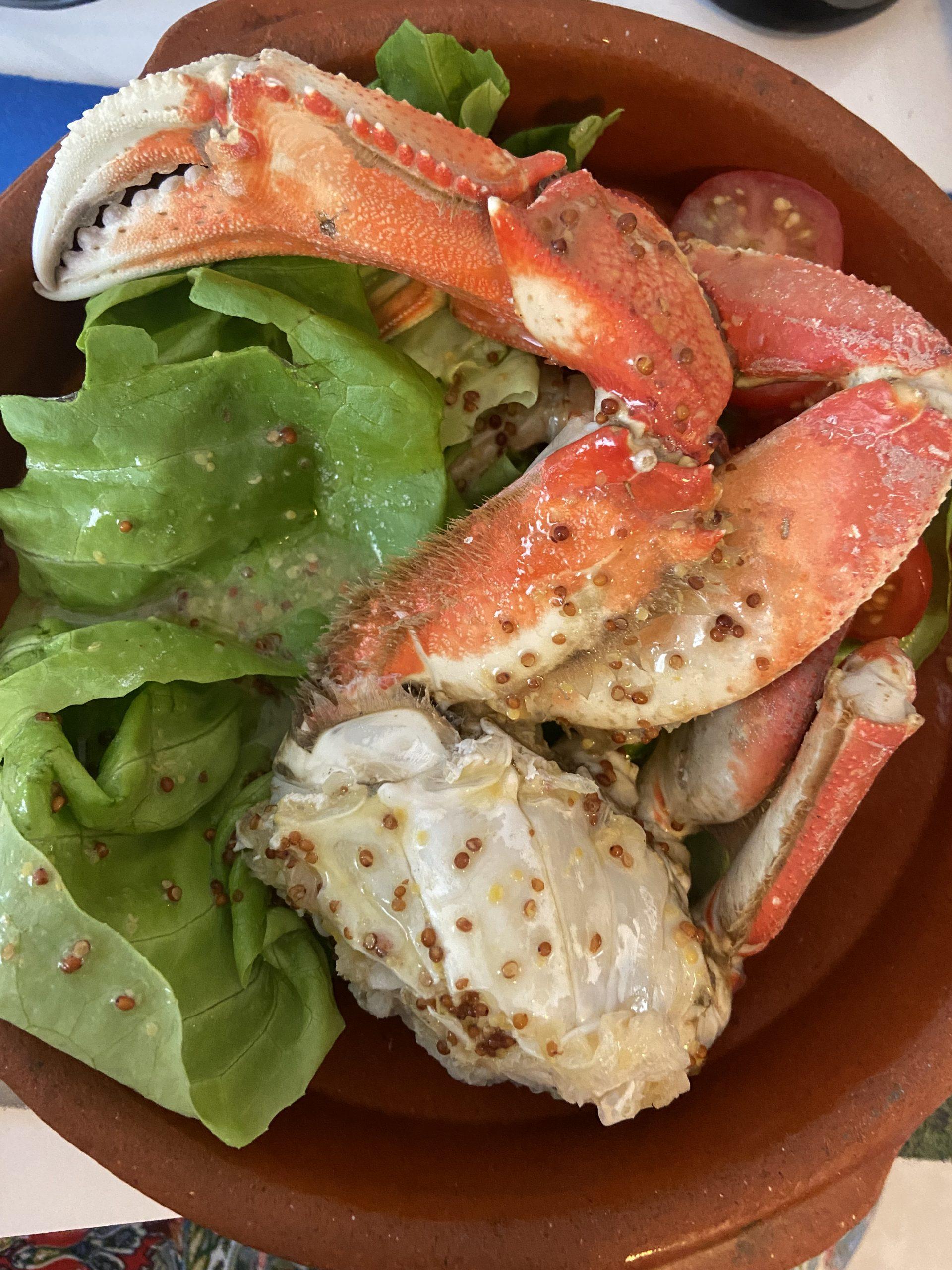 Patas de cangrejo en mostaza Dijon
